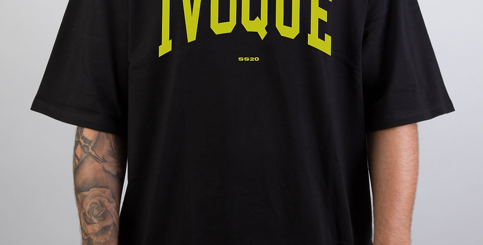 IVOQUÉ - Logo Tee Black Yellow