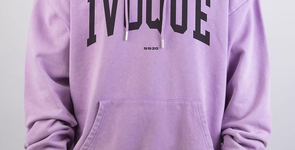 IVOQUÉ - Logo Hoodie Purple Washed Black