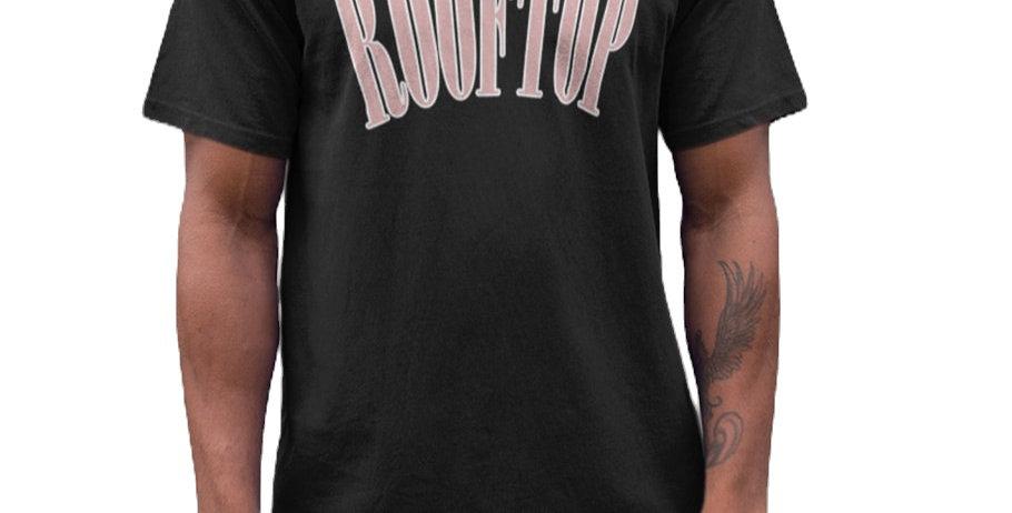 ROOFTOP - Oversize Tee College Black Flieder