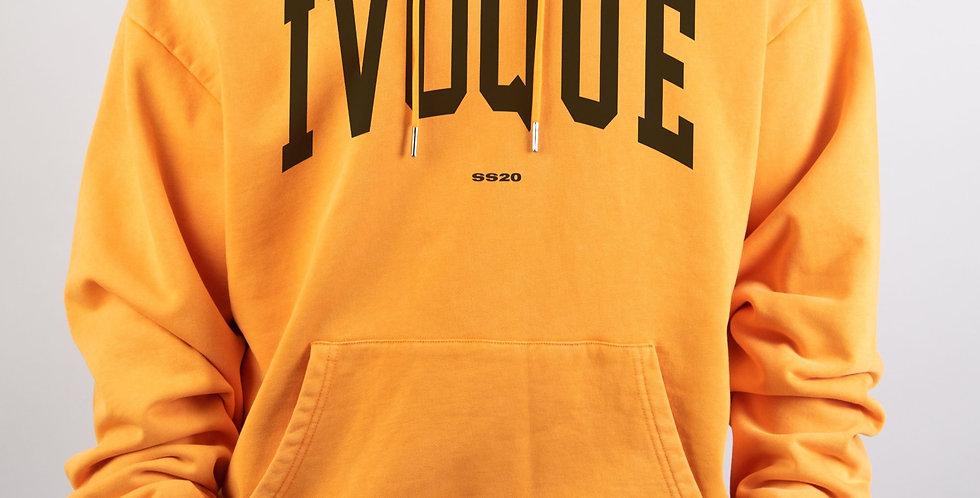 IVOQUÉ - Logo Hoodie Orange Washed Black