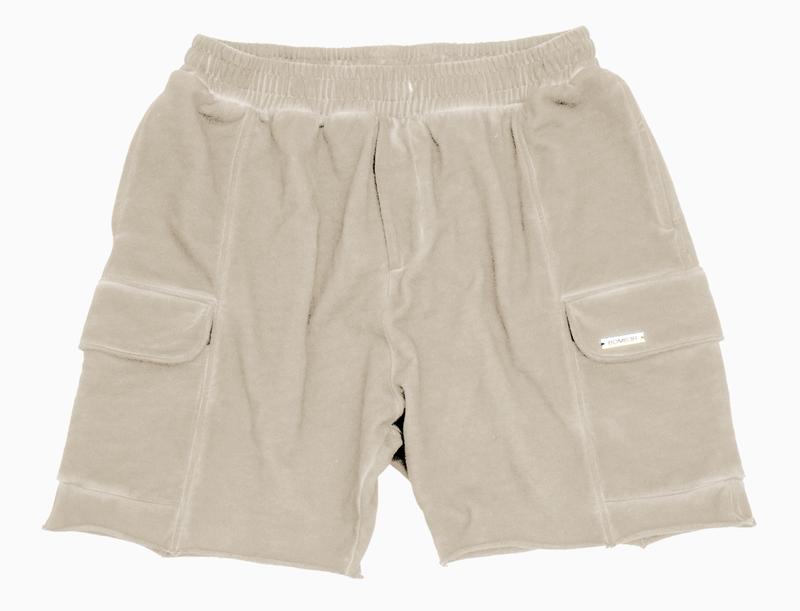 BOMBER CLOTHING - Vintage Cream Box Shorts