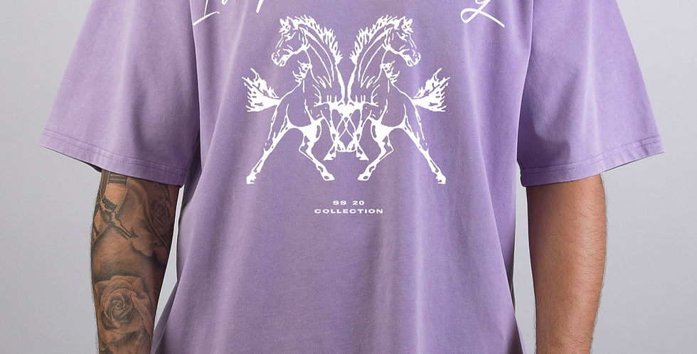 IVOQUÉ - Tee Washed Purple Horsepower