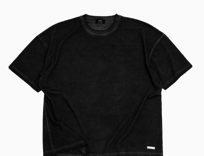 BOMBER CLOTHING - Blank T-Shirt Vintage Black