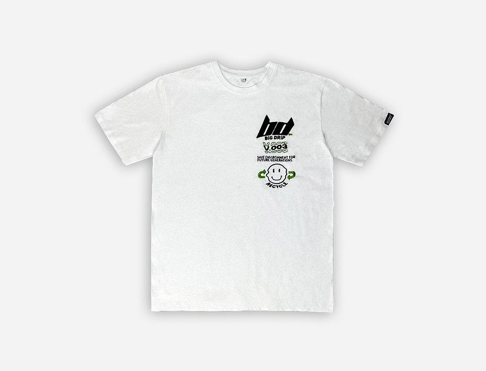 BIG DRIP - Oversized Dripped Smile T-Shirt Weiß