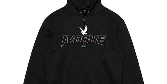 "IVOQUÉ - Hoodie Black ""LOGO TEE"" Green"