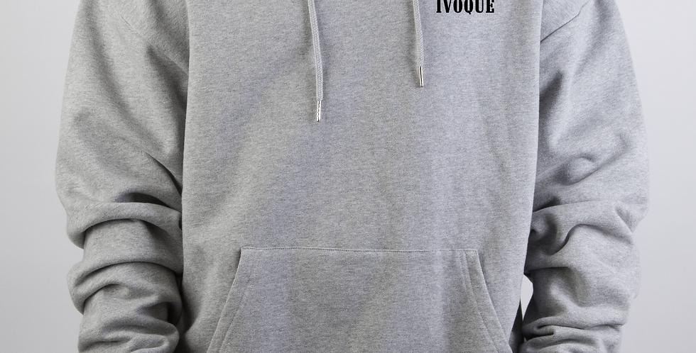 IVOQUÉ - Ivo Hoodie Light Grey Wings Black