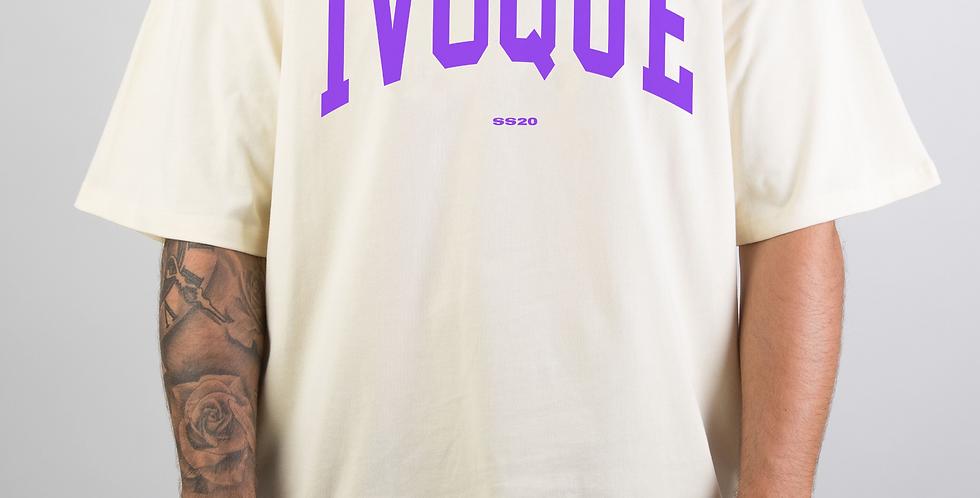 IVOQUÉ - Logo Tee Cream Purple