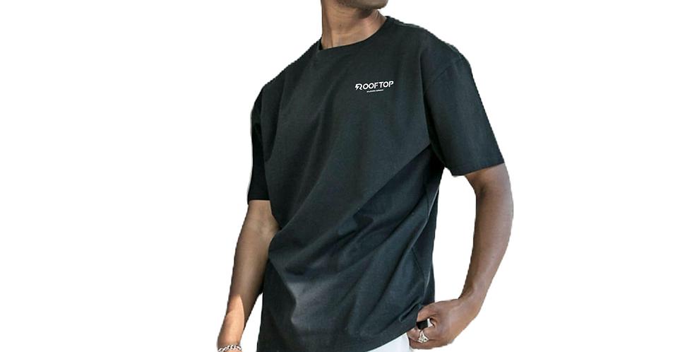 ROOFTOP - Oversize Basic Tee Black