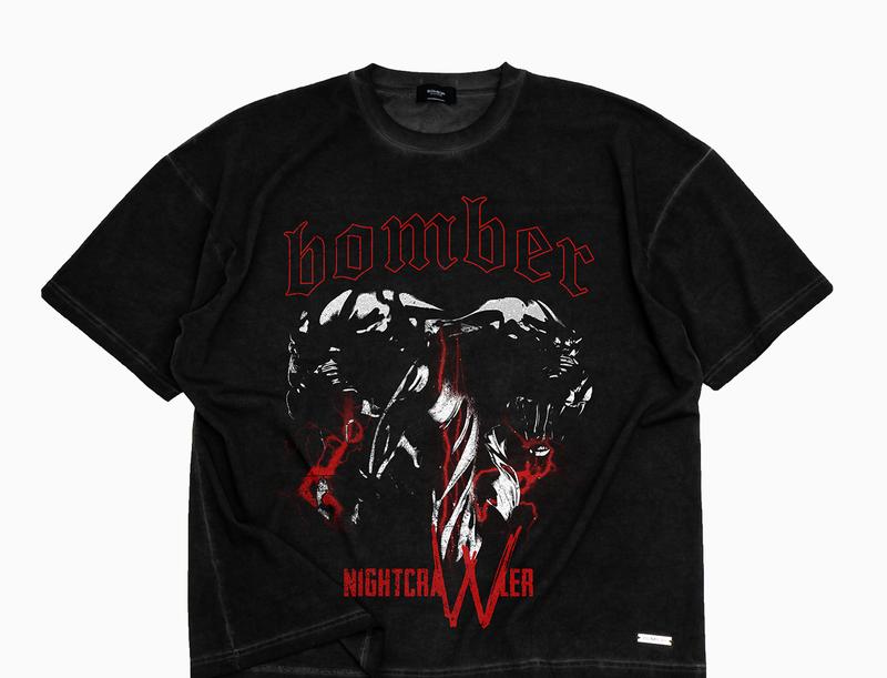 BOMBER CLOTHING - Two Minded T-Shirt Vintage Black