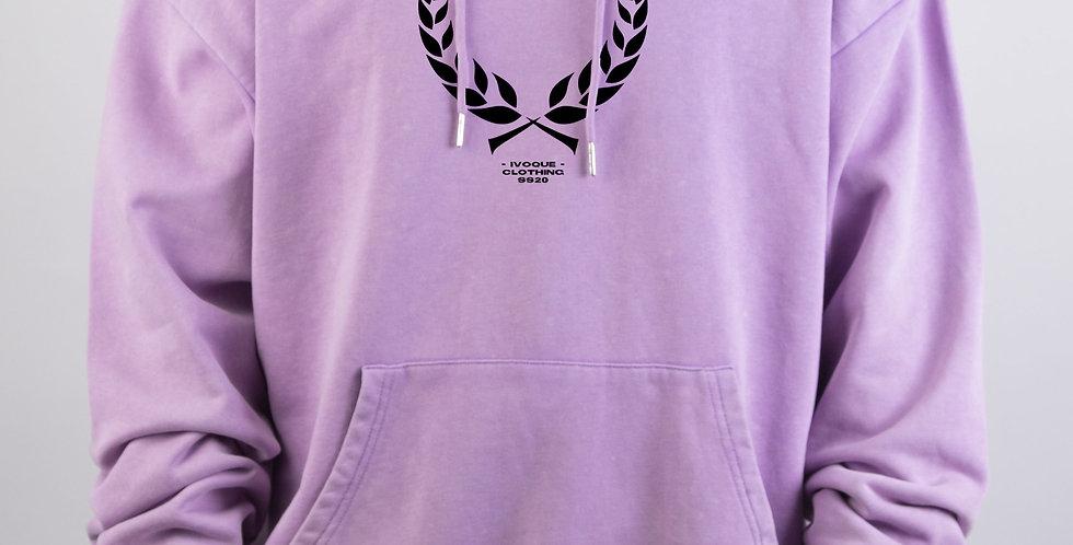 IVOQUÉ - Ivo Hoodie Purple Washed Trophy Black
