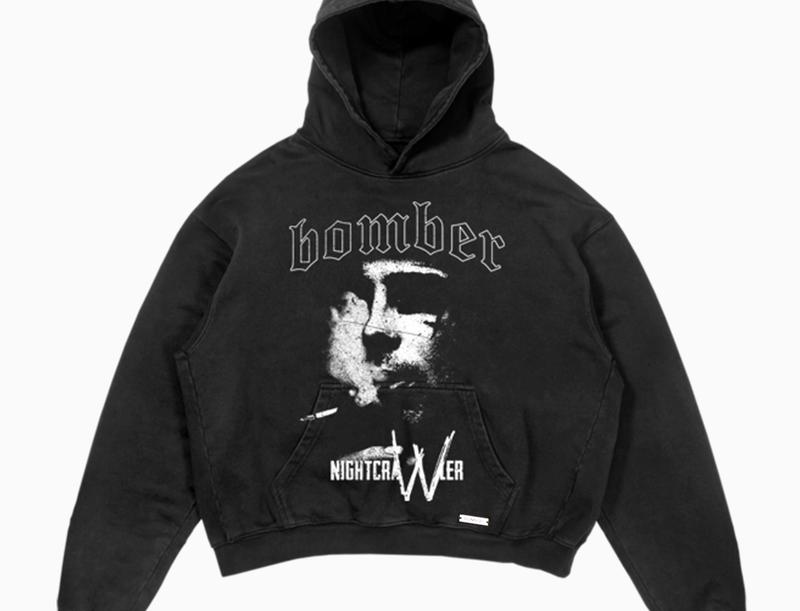 BOMBER CLOTHING - Immortal Hoodie Vintage Black