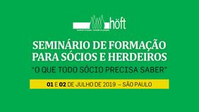 SEMINÁRIO DE FORMAÇÃO PARA SÓCIOS E HERDEIROS