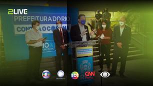 Transmissão ao vivo com LU Matrix das coletivas da Prefeitura do Rio de Janeiro