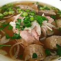 P6. Rare Beef and Beef Ball Pho