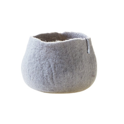 AVEVA flower pot, light grey (Medium)