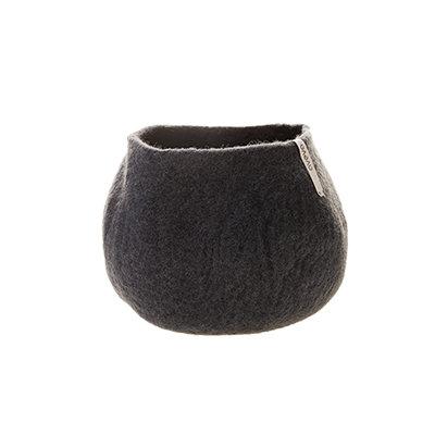 AVEVA  flower pot, dark grey (Medium)