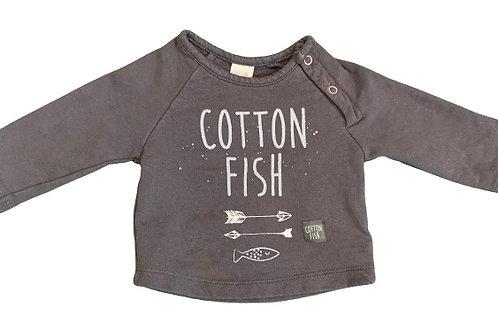 Sudadera Cotton Fish T.1 mes
