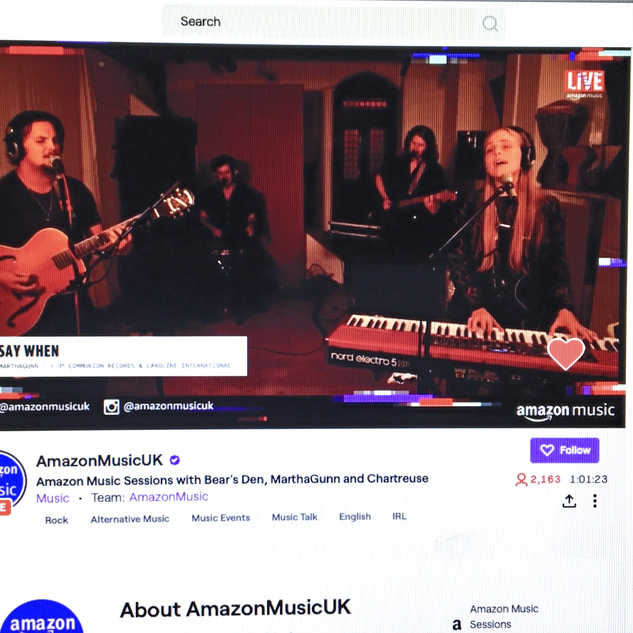 Amazon Music Sessions on Twitch