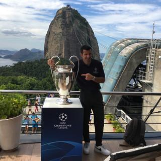 Luis Figo at UEFA Global Fan Event Rio