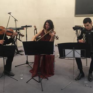 Performance by: Michalis Iskas, Viola. Kalliopi Mitropoulou, Violin. Iñigo Mikeleiz-Berrade, Accordion.