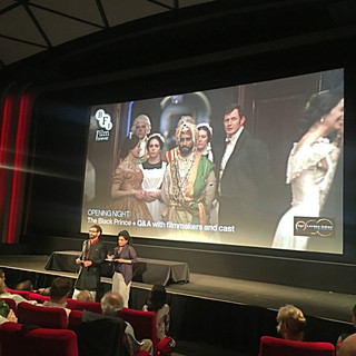 Opening Night Bagri Foundation London Indian Film Festival 2017, Alka Bagri (Title Sponsor) and Cary Sawhney (Festival Director) at BFI Southbank