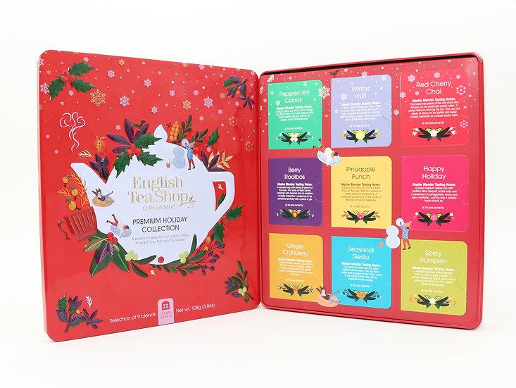 Red Gift Tin (72 Tea Bag Sachets)   English Tea Shop   058328