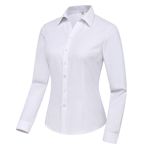 女裝長袖裇衫 Ladies Long Sleeve Shirt (TCAIK-MHBTC)
