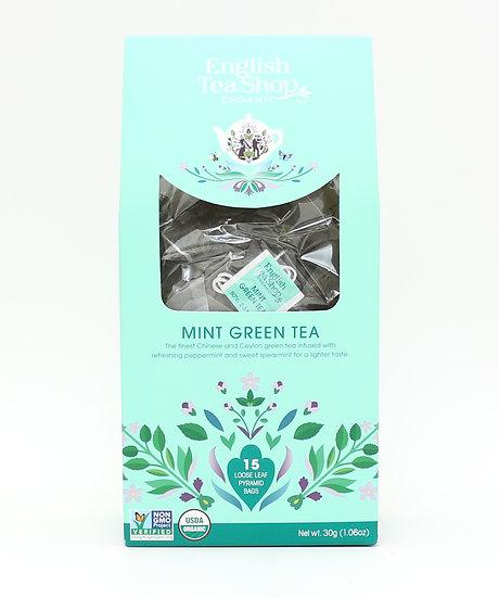 Mint Green Tea (15 Loose leaf pyramid tea bags) | 059547