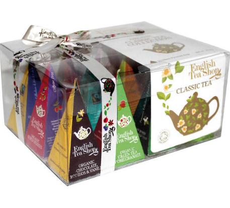 Classic Tea Collection (12 Pyramid Tea Bags)   English Tea Shop   048893