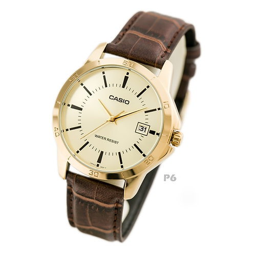 Casio Leather Watch (Unisex) | MTP-V004GL-9A | P6