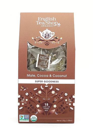 Mate, Cocoa & Coconut (15 Loose leaf pyramid tea bags) | 059646