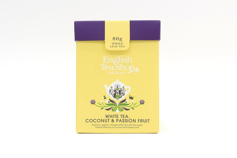White Tea, Coconut & Passion Fruit (80g Whole Leaf Tea) | 059929