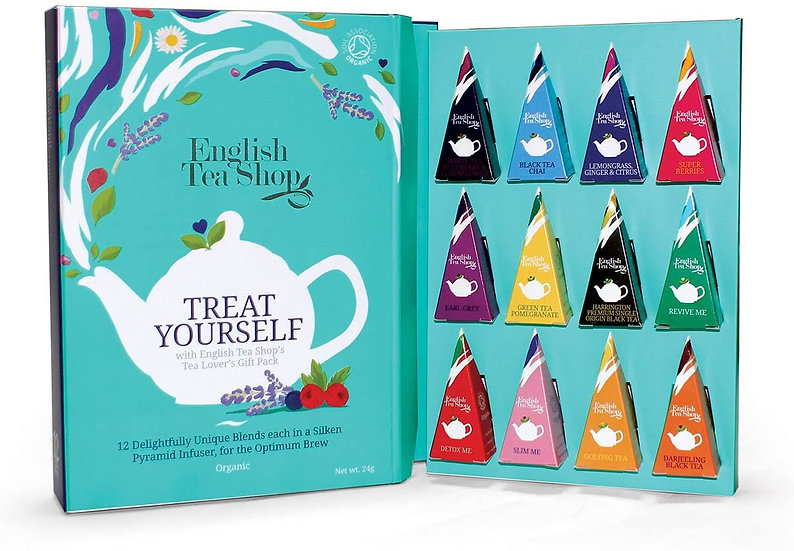 Book Style Gift Pack (12 Pyramid Tea Bags) | English Tea Shop | 049784