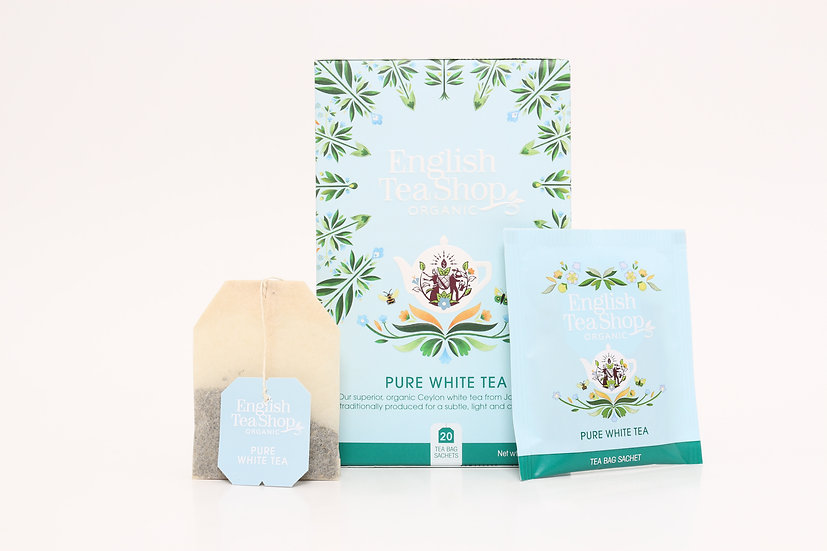 Pure White Tea (20 Tea Bag Sachets) | English Tea Shop | BR292674
