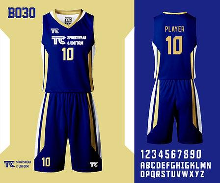 Basketball Jersey 籃球衫 (Design Template 參考設計 B030)