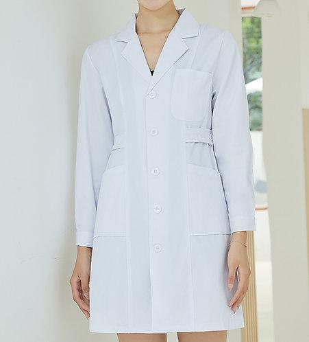 女裝鈕扣長袖醫生袍 Women Long Sleeve Medical Coat (TC344HB43 | Y203)