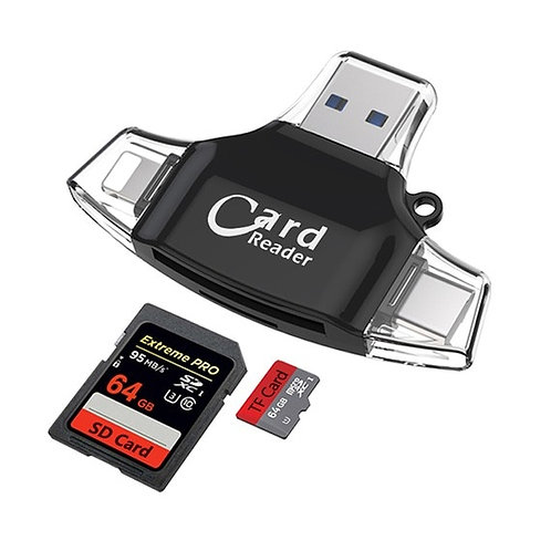 4 in 1 Multi Function All in One Four Port Card Reader