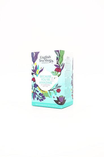 Because You're Amazing (20 Tea Bag Sachets)   English Tea Shop   060185