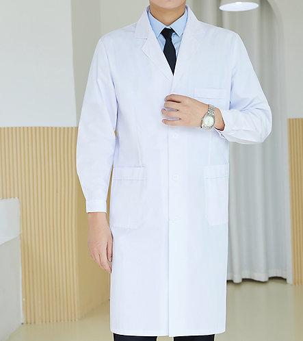 男裝鈕扣長袖醫生袍 Men Long Sleeve Medical Coat (TC344HB43   Y103)