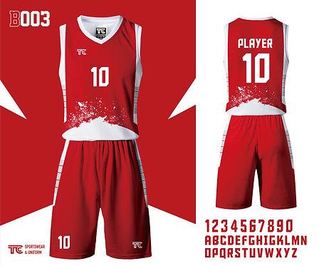 Basketball Jersey 籃球衫 (Design Template 參考設計 B003)