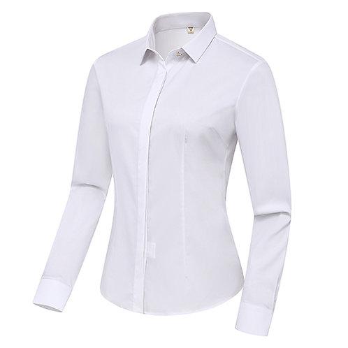女裝長袖裇衫 Ladies Long Sleeve Shirt (TCAIK-HBZC)