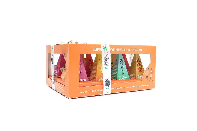 Super Tea Collection Prism (12 Pyramid Tea Bags) | English Tea Shop | 060871