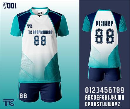 Volleyball Jersey 排球衫 (Design Template 參考設計 V001)