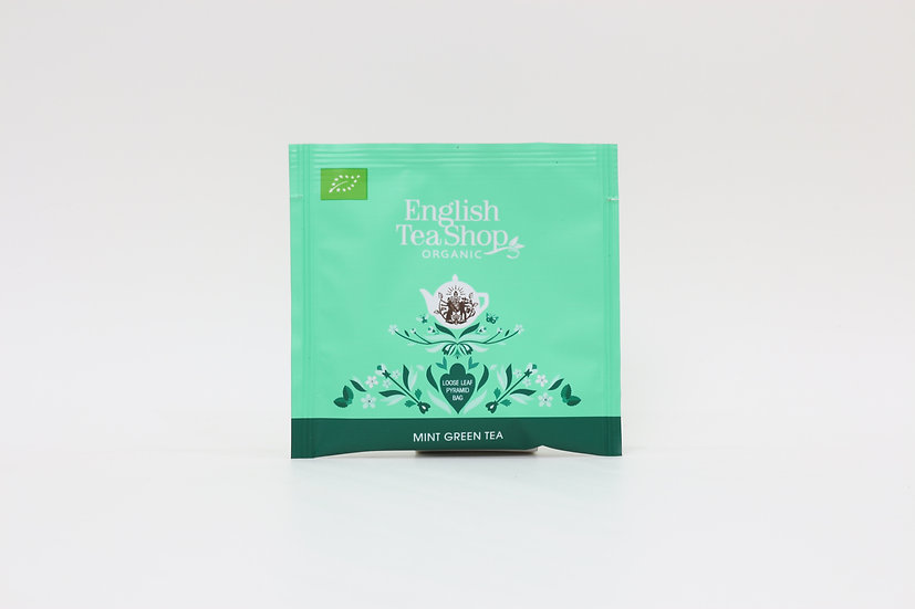Mint Green Tea (50 Loose leaf pyramid tea bags per pack)   061090