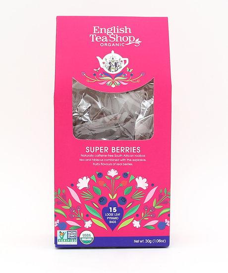 Super Berries (15 Loose leaf pyramid tea bags)   English Tea Shop   059585
