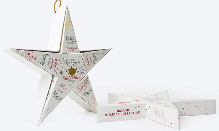 Red & Silver Star Gift Pack (6 Loose Leaf Tea Pyramid Bags) | 056225