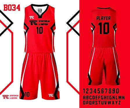 Basketball Jersey 籃球衫 (Design Template 參考設計 B034)