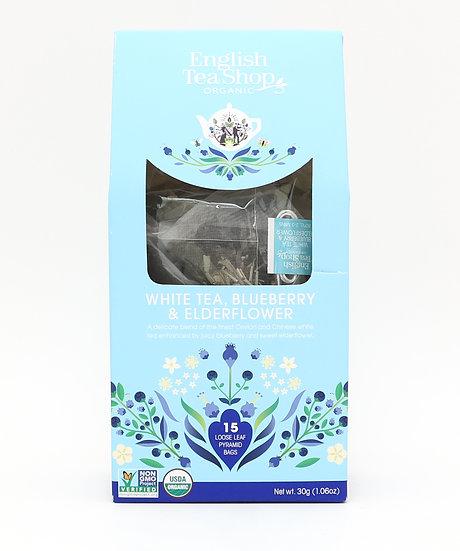 White Tea, Blueberry & Elderflower (15 Loose leaf pyramid tea bags) | 059578