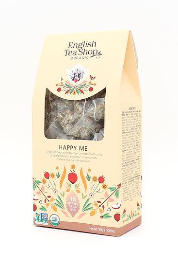 Happy Me (15 Loose leaf pyramid tea bags)   English Tea Shop   059721