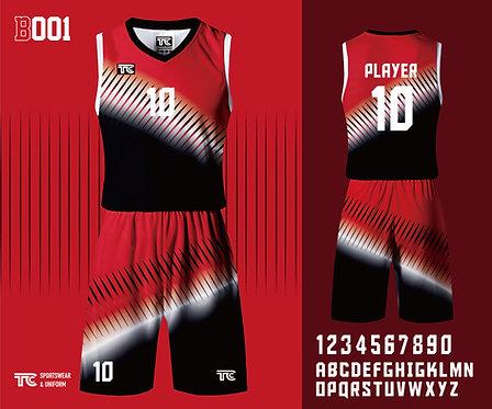 Basketball Jersey 籃球衫 (Design Template 參考設計 B001)
